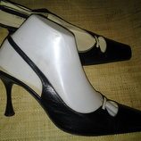 38р-25 см кожа туфли Sergio Rossi Made in Italy