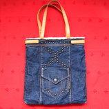 Фирменная сумка с мехом