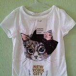футболки на девочку H&M