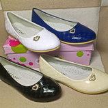 Туфли в стиле Шанель девочкам, р. 30-37