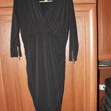 Платье черное, модное и стильное, размер 52-56