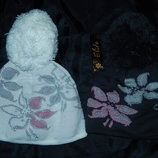 Новые зимние шапки с бубоном на голову 52-56 см