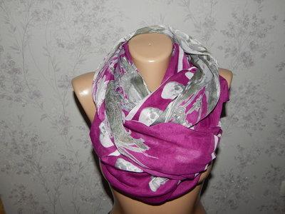 шарф тонкий стильный модный