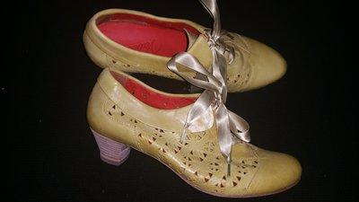 39р- 25.5 новые кожа туфли Vabeene Испания