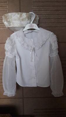 Школьные блузки на девочку 128-134-140