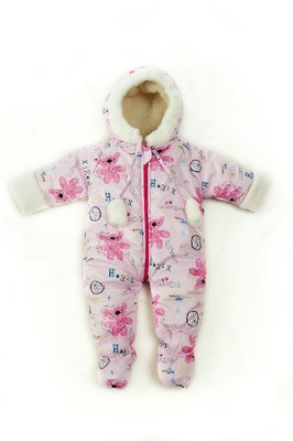 Зимний комбинезон для малышей от 0 до 6 месяцев.