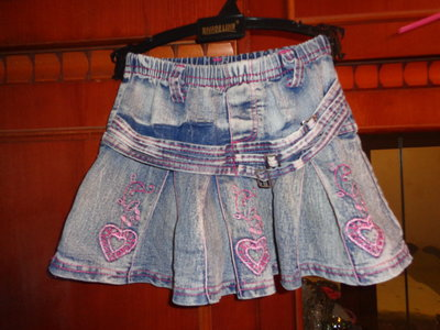 джинцывая юбочка на девочку