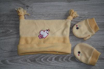 Набір Bh baby, шапка, рукавички, 52см, 2-3 роки