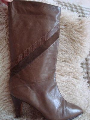 сапоги кожа натуральная-38 коричневые
