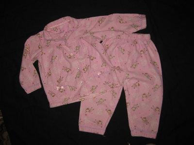 пижама байковая на 1,5-2 года, девочке