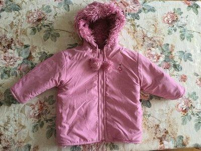 2-4 год. Двусторонняя BEBE курточка- меховушка. На любую погоду. В идеале. Двусторонняя. Длина 46,