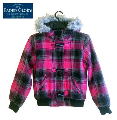 Курточка демисезон с капюшоном в клеточку на 7-8 лет, Faded Glory Америка