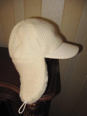 Красивая теплая шапка-трансформер, размер 55